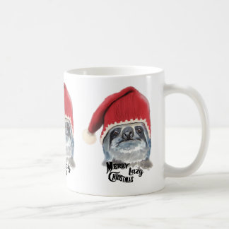 Caneca De Café Natal preguiçoso alegre