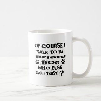 Caneca De Café Naturalmente eu falo a meu design do cão de Briard