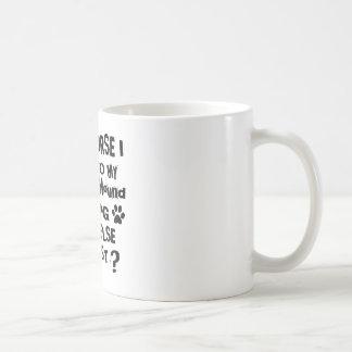 Caneca De Café Naturalmente eu falo a meu design do cão de galgo