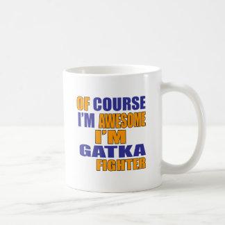 Caneca De Café Naturalmente eu sou lutador de Gatka