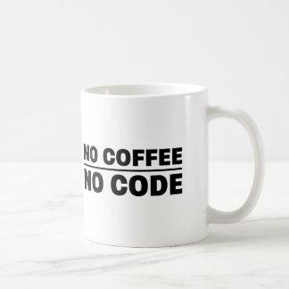 Caneca De Café Nenhum café nenhum código