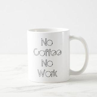 Caneca De Café Nenhum café nenhum trabalho
