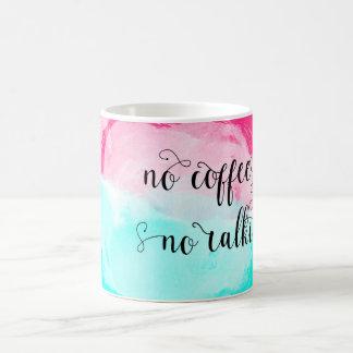 Caneca De Café ♛ nenhum café nenhum Watercolour do talkie
