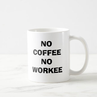 CANECA DE CAFÉ NENHUM CAFÉ NENHUM WORKEE