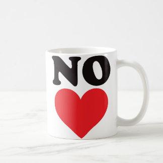 Caneca De Café Nenhum coração