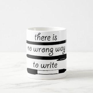 Caneca De Café Nenhuma maneira errada de escrever, para agredir o