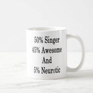 Caneca De Café Neurotic 45 impressionante e 5 cantor de 50