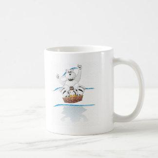 Caneca De Café Neve do urso polar do pinguim