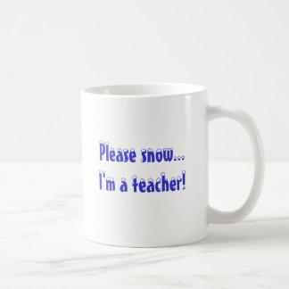 Caneca De Café Nevo por favor… eu sou um professor!