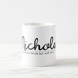 Caneca De Café Nichole com um nome engraçado de h