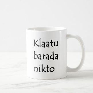 Caneca De Café nikto do barada do klaatu