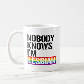 Caneca De Café Ninguém sabe que eu sou - - os direitos lésbicas