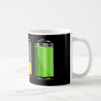Caneca De Café Níveis da bateria
