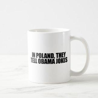 Caneca De Café No Polônia, dizem piadas de Obama