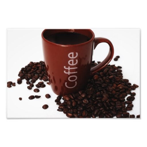 Caneca de café no poster impressão de foto