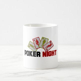 Caneca De Café Noite do póquer com cartões de jogo