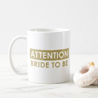 Caneca De Café Noiva da ATENÇÃO a ser - customizável