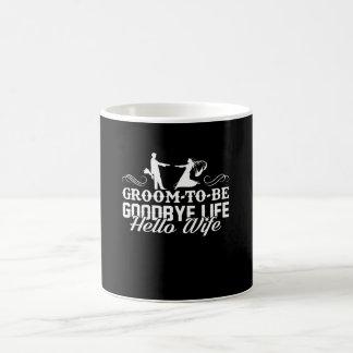 Caneca De Café Noivo a ser adeus camisa da esposa da vida olá!