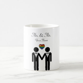 Caneca De Café Noivo da silhueta e noivo - altos