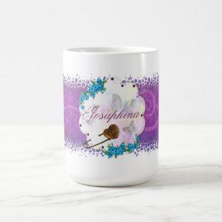 Caneca De Café NOME Jeweled da borboleta cena ideal
