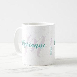 Caneca De Café nome/monograma monogrammed da escrito à mão-pia