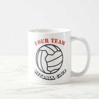 Caneca De Café Nome temático da equipe da bola do Netball