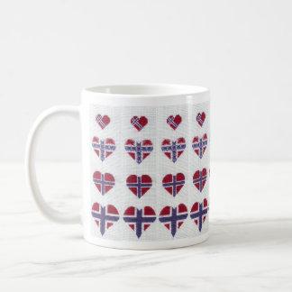 Caneca De Café Nordic norueguês Noruega do ponto da cruz do