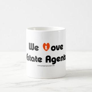 Caneca De Café Nós amamos agentes imobiliários