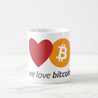 Caneca De Café Nós amamos o bitcoin