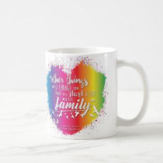 Caneca De Café Nós começamos & terminamos com família - Drinkware