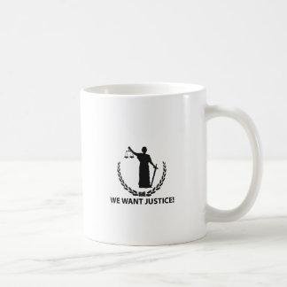 Caneca De Café Nós queremos justiça