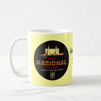 Caneca De Café Nostalgia de luxe do viagem do HOTEL NACIONAL DE