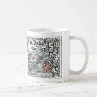 Caneca De Café Nota de dólar 5
