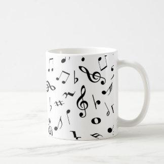 Caneca De Café notas musicais