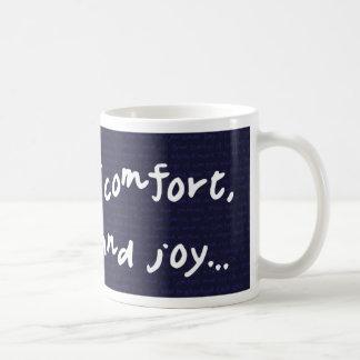 Caneca De Café Notícias do conforto e da alegria