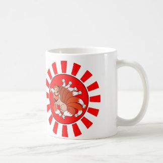 Caneca De Café Nove ataram Fox vermelho (Kitsune)