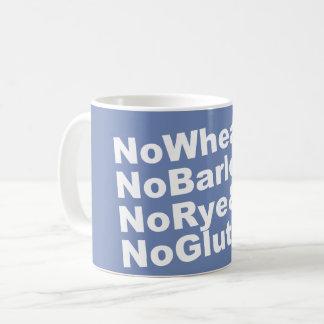 Caneca De Café NoWheat&NoBarley&NoRye&NoGluten! (branco)