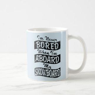 Caneca De Café Nunca furado A BORDO de meu SNOWBOARD (preto)