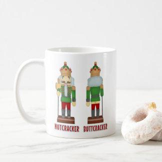 Caneca De Café Nutcracker engraçado Buttcracker do Natal cómico