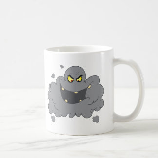 Caneca De Café Nuvem preta dos desenhos animados da poluição