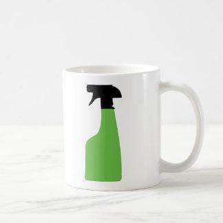 Caneca De Café o aerossol da limpeza pode esverdear