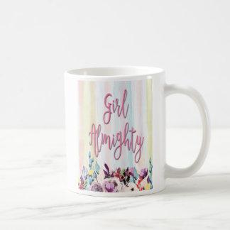Caneca De Café O Almighty da menina, mulheres fortes, cita
