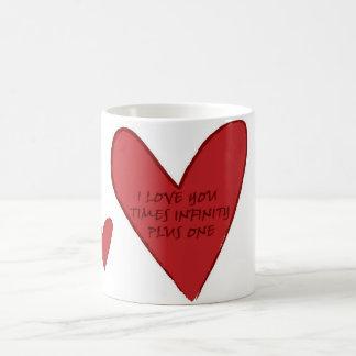 Caneca De Café O amor cronometra a infinidade mais uma