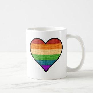 Caneca De Café O amor de LGBT é coração do arco-íris do amor