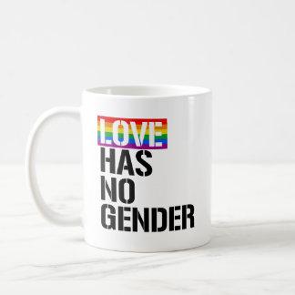 Caneca De Café O amor não tem nenhum género - - os direitos de