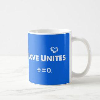 Caneca De Café O amor une citações positivas da unidade