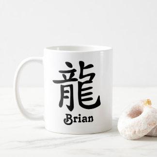Caneca De Café O ano chinês do zodíaco do dragão adiciona o nome