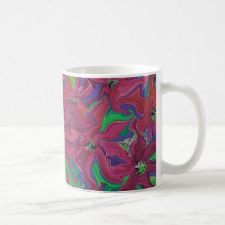 Caneca De Café O arando floresce o copo de café da arte abstracta
