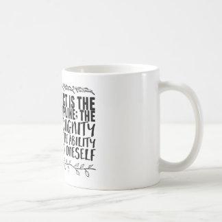 Caneca De Café o Auto-respeito é a fruta da disciplina;