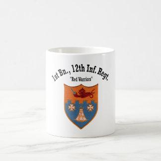 """Caneca De Café ø Batalhão, 12o """"copo dos guerreiros vermelhos"""""""